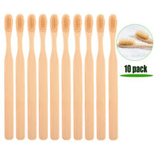 10PCS Eco Friendly Bamboo Toothbrush Natural Biodegradable Wood Soft  Bristles