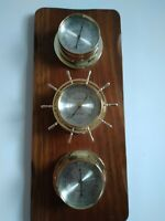 Vintage Springfield Weather Station Barometer Thermometer Humidity with KEY