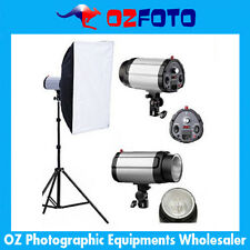 300W Photography Studio Strobe Flash Light Lighting Softbox Soft Box Stand Kit