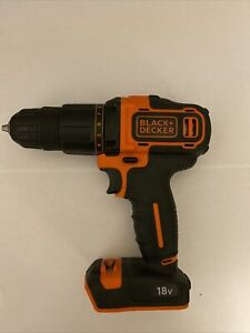 Black & Decker 18V Cordless Brushed Combi Drill Hammer Body Only with Case