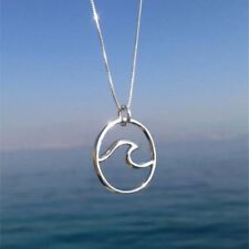 Wave Necklace Surfer's Jewelry Ocean Life Necklace Wave Pendant Necklace Utility