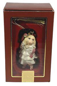 LENOX The MUPPETS Kiss Me Kermie MISS PIGGY Porcelain Christmas Ornament Figure