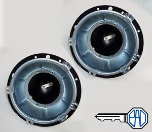 "MG Midget Main & Inner 7"" Headlamp Bowls/ Buckets (metal) (Set)"