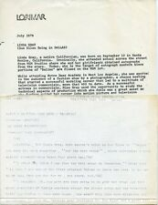 LINDA GRAY DALLAS TV SHOW RARE ORIGINAL 1980 CBS TV PRESS MATERIAL
