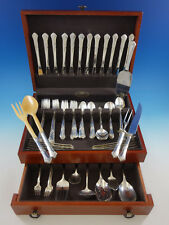 Stately by State House Sterling Silver Flatware Set 12 Service 96 pieces Grille
