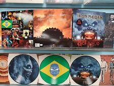 IRON MAIDEN ROCK IN RIO 3X PICTURE DISC LP VINYL RECORD ENGLAND PRESS NM 2002