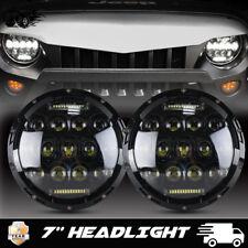"7""inch LED Headlights HiLo Beam Fit Toyota Hummer H1 H2 JEEP JK LJ CJ FJ 2PCS"