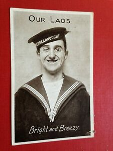 Vintage Military Postcard Posted 1916 Our Lads Bright and Breezy Sailor