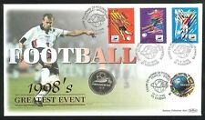 1998 - France 98 Football Coin Cover - 1fr Coin & 4 French Pmks
