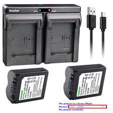 Kastar Battery Dual Charger for Panasonic CGA-S006 & Panasonic Lumix DMC-FZ35GK