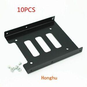 "10packs Black 2.5"" SSD to 3.5"" Bay Hard Drive HDD Mounting Dock Tray Bracket Ada"