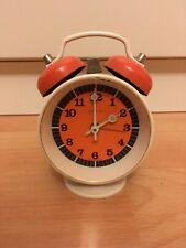 Vintage kleiner Peter Glockenwecker orange schwarz läuft