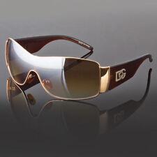 DG Eyewear Fashion Designer Shield Sunglasses Mens Womens Black Retro Shades