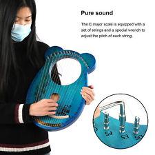 Lyra Harfe 16 Saiten Stimmschlüssel Leier Lyre graviert Panda Zupfinstrument DE