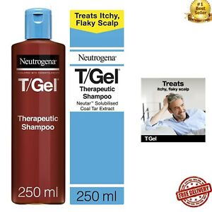 Neutrogena 250ml T/Gel Therapeutic Shampoo Treatment for Scalp Psoriasis Itching