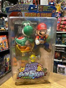 Super Mario Sunshine Mario and Yoshi Figure Nintendo Power Rare SHELF WEAR