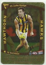 2011 AFL TEAMCOACH GOLD HAWTHORN HAWKS 27 Luke Hodge CARD