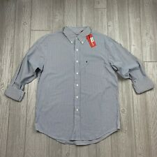 IZOD Mens Size Medium Dress Shirt, Button Down, Long Sleeve, Stripes - NWT