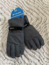 Columbia men's M weatherproof Ski Mountain Winter Snowboard Snow Gloves GRAY