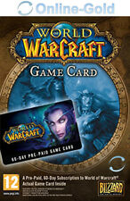World of Warcraft WOW prepagata time 60 giorni days Gamecard Codice CARD - ITA