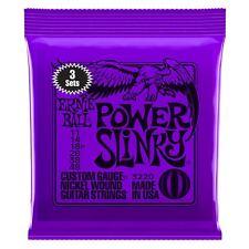 Ernie Ball 3 Pack Power Slinky Nickel Wound Electric Guitar Strings Gauge 11-48
