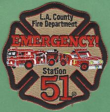 LOS ANGELES COUNTY CALIFORNIA FIRE STATION 51 PATCH EMERGENCY