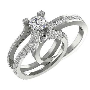 Bridal Ring Set I1 G 3.75 Ct Real Diamond 14K White Yellow Rose Gold Appraisal