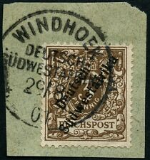 107/DSWA 1901 Krone/Adler 5a ° Windhoek 29/8/01 Briefstück
