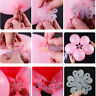 10pcs Balloon Sticks Plum Flower Tie Latex Sealing Clips Wedding Party Decor---