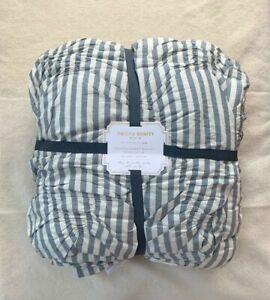 NEW Pottery Barn Teen The Emily & Meritt Striped Comforter Twin XL Chambray Blue
