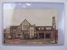 City Hall / Fire House Bessemer Michigan Postcard D-618