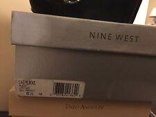 LADIES SZ 6.5 M NINE WEST COLLECTION BLACK LEATHER Sandals