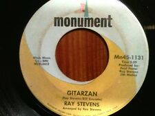 "RAY STEVENS 45 RPM ""Gitarzan"" & ""Bagpipes-That's My Bag"" VG condition"