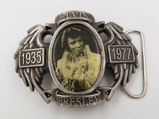 "Elvis Presley 1935-1977 Photo Metal Belt Buckle 4"" x 3"""