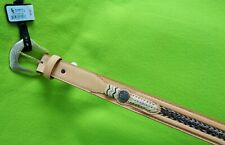 New Size 28 Vintage Double S Leather Belt Braid Horse Hair Silver Concho &Buckle
