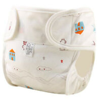 Washable Baby Nappy Cloth Reusable Diaper Cover Cartoon Print Cotton Diapers G