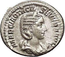 Otacilia Severa 244AD Rare Silver Ancient Roman Coin Sexual ethic Modesty i52128