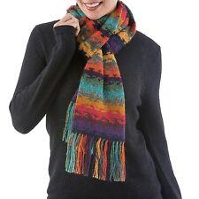 Alpaca Scarf Striped Knit Multicolor Women's 'Andean Twilight' NOVICA Peru