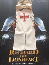 Coo Modelos Richard el Lionheart Blanco cruzó Tabardo Suelto Escala 1/6th