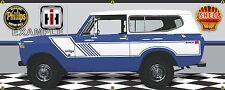 1974 INTERNATIONAL IH SCOUT II RALLYE DARK BLUE GARAGE SCENE BANNER SIGN ART 2X5