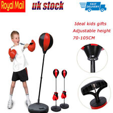 Children Kids Boxing Gloves Set Gift Punching Ball Bag Adjustable Stand Kit Pump