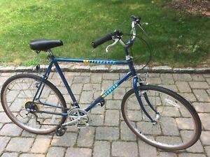 Schwinn Mesarunner mens road bicycle vintage blue 10 speed comfort cruiser bike