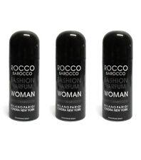 3pz ROCCOBAROCCO FASHION PARFUM WOMAN deodorante spray donna 150ml NUOVO