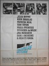 Affiche PREMIERE VICTOIRE In Harm's Way OTTO PREMINGER John Wayne 120x160cm 1965