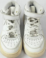 Nike Air AF-1 82 Girls Children Kids Mid Hi Trainers Size 4 UK White 314195-113