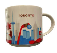 Starbucks Toronto You Are Here Coffee Mug 14 Oz 2017 YAH Red White CN Tower Cup