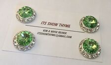Competition number holder -  Magnet Number Pin  - 15MM  Peridot