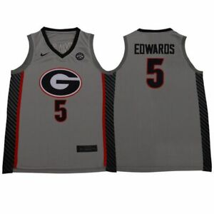 Anthony Edwards #5 Georgia Bulldogs College Men's Basketball Jersey - S to 5XL