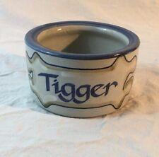 Louisville Stoneware TIGGER Dog/Cat Food Water Bowl Dish Handpainted