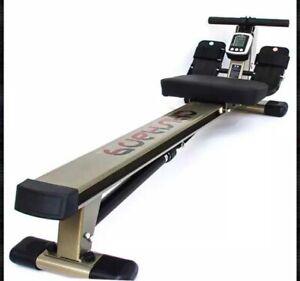 Bodyfit D7772 12 Resistance Levels Rowing Machine - Grey/Black